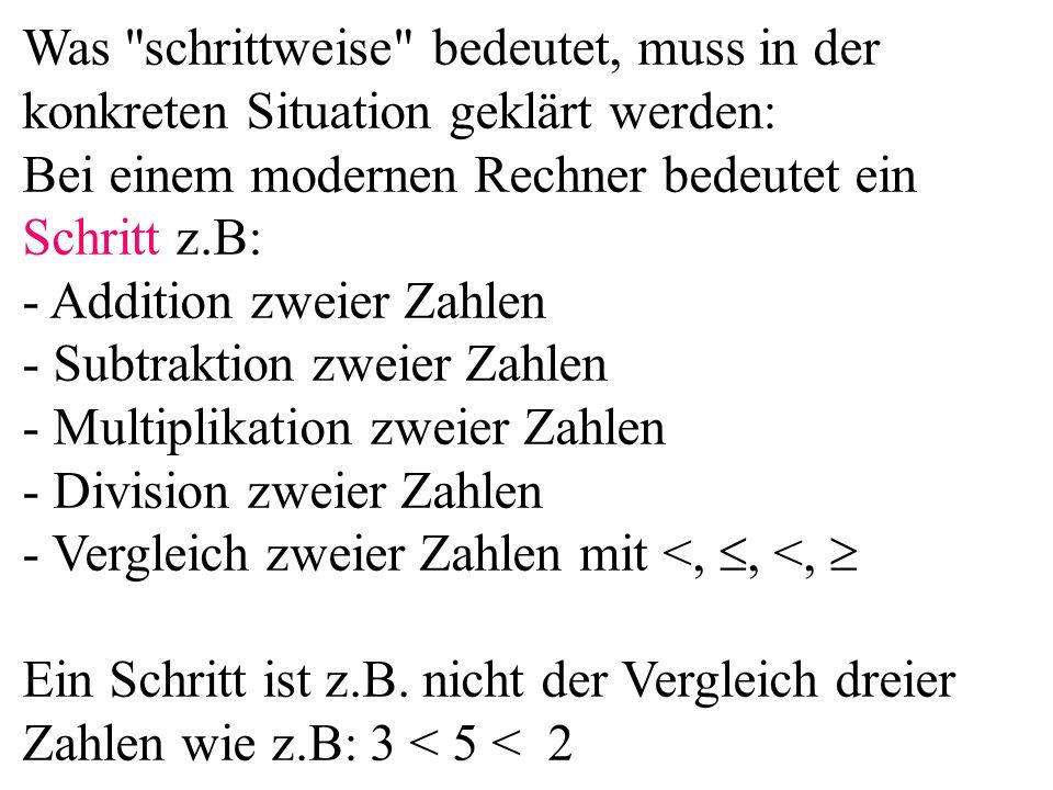 - Subtraktion zweier Zahlen - Multiplikation zweier Zahlen