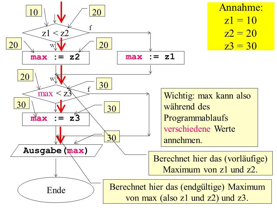 Berechnet hier das (vorläufige) Maximum von z1 und z2.