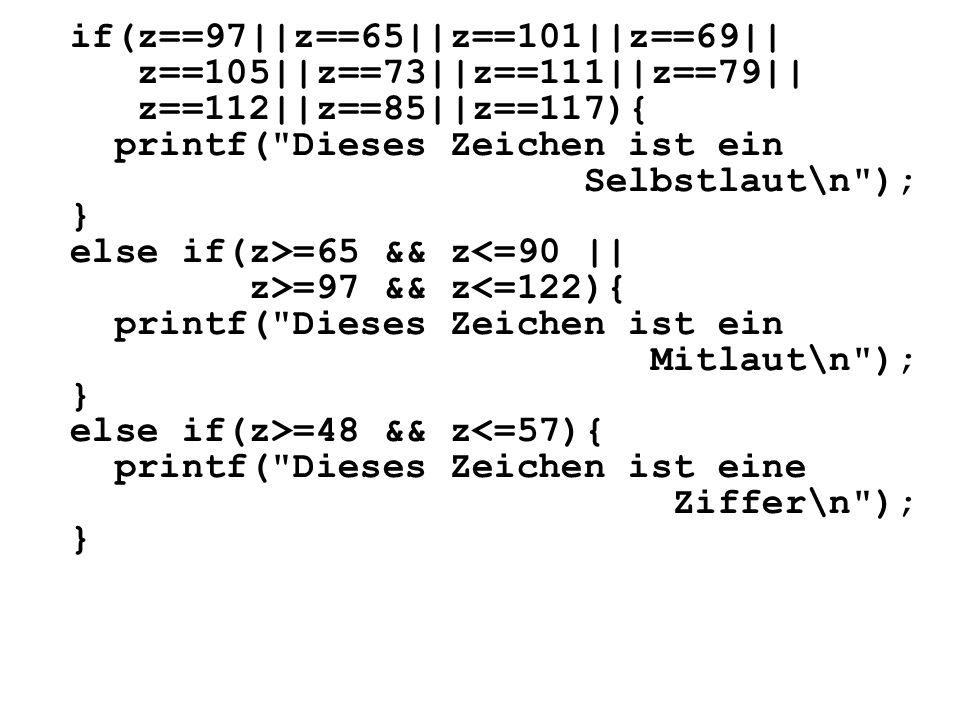 if(z==97||z==65||z==101||z==69||