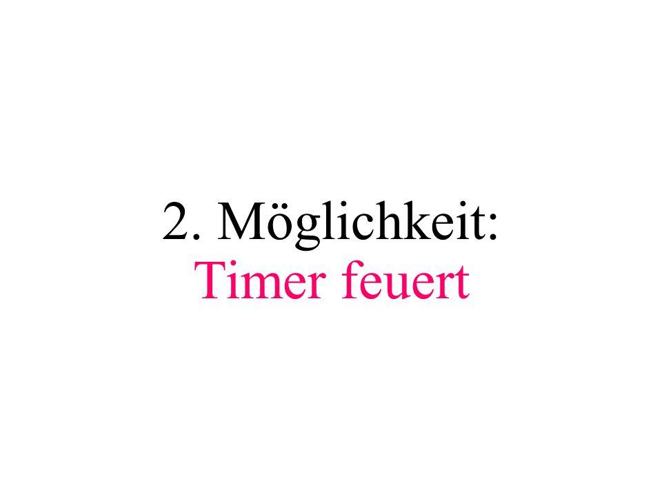 2. Möglichkeit: Timer feuert