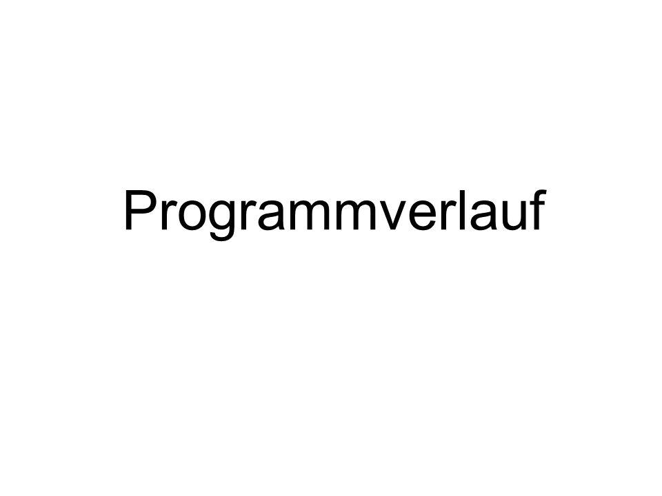 Programmverlauf Weiter mit PP.