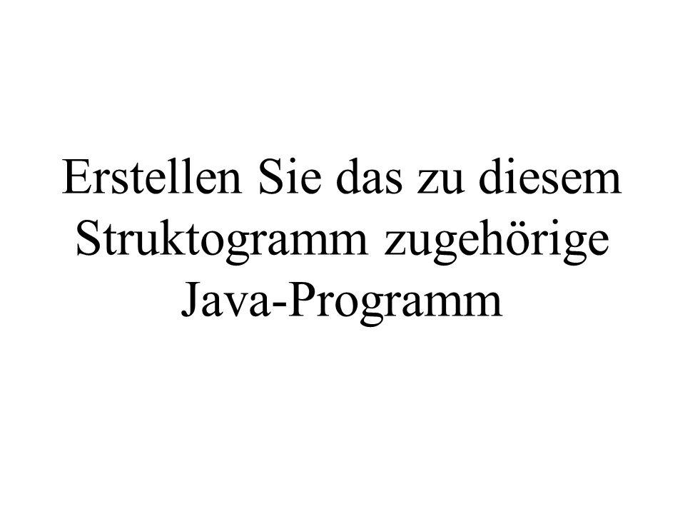 Erstellen Sie das zu diesem Struktogramm zugehörige Java-Programm