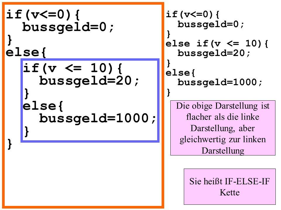 if(v<=0){ bussgeld=0; } else{
