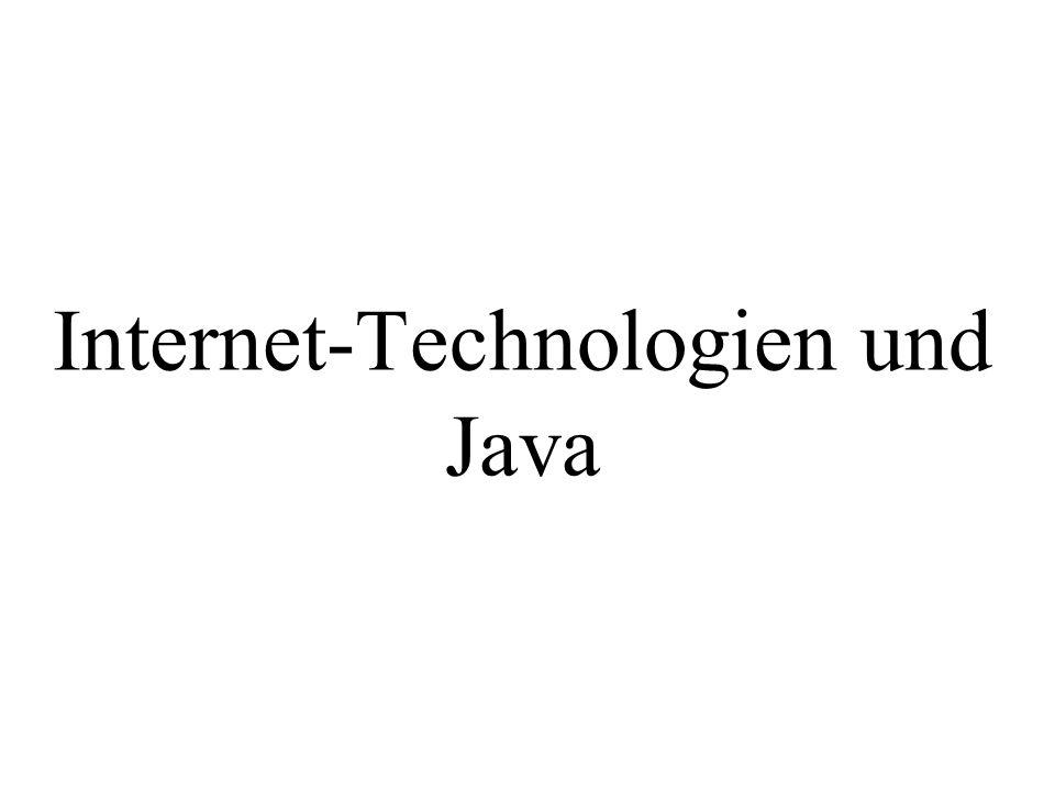 Internet-Technologien und Java