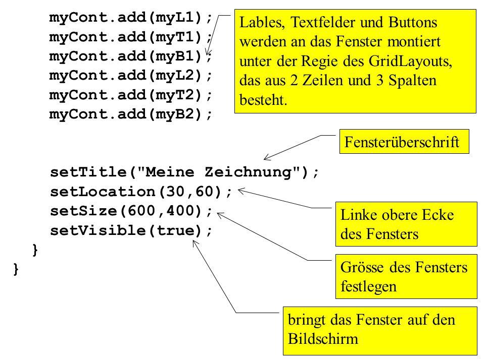 myCont.add(myL1); myCont.add(myT1); myCont.add(myB1); myCont.add(myL2); myCont.add(myT2); myCont.add(myB2);