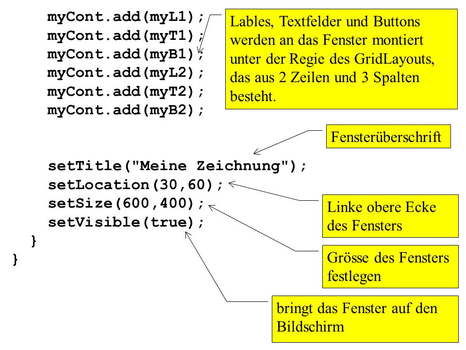 myCont.add(myL1);myCont.add(myT1); myCont.add(myB1); myCont.add(myL2); myCont.add(myT2); myCont.add(myB2);