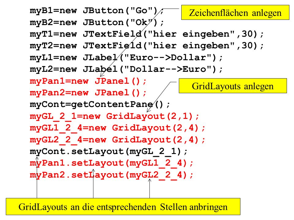 myT1=new JTextField( hier eingeben ,30);