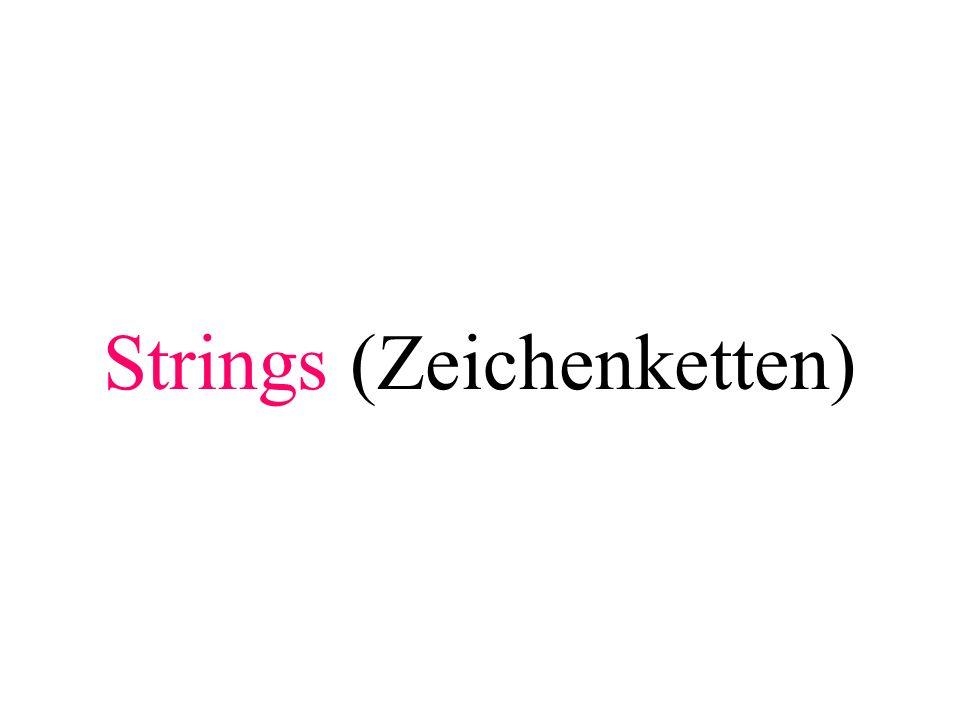 Strings (Zeichenketten)