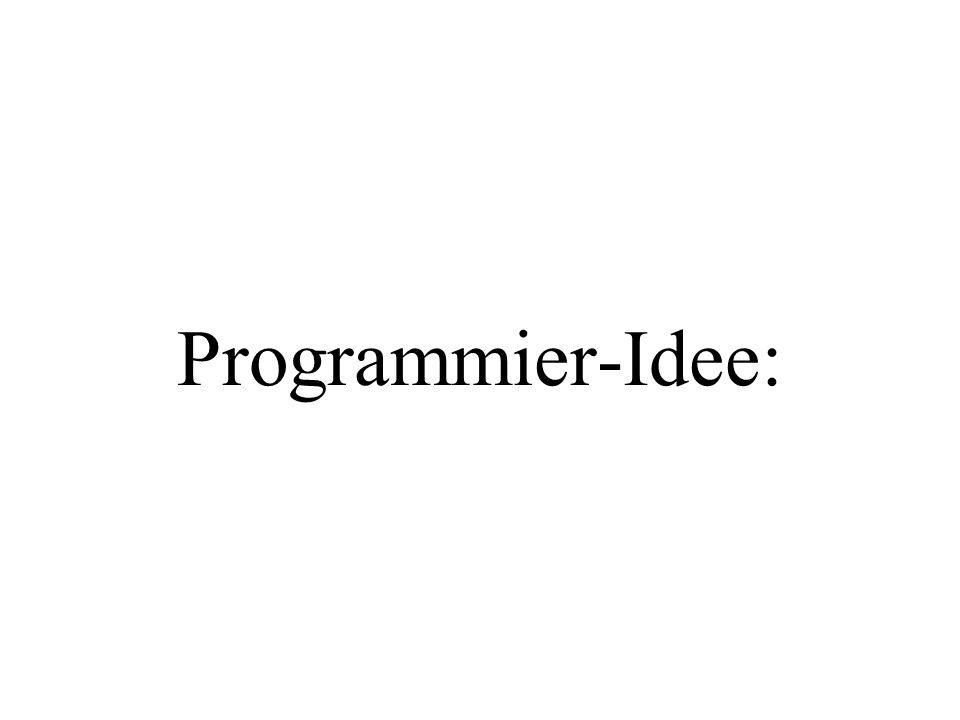 Programmier-Idee: