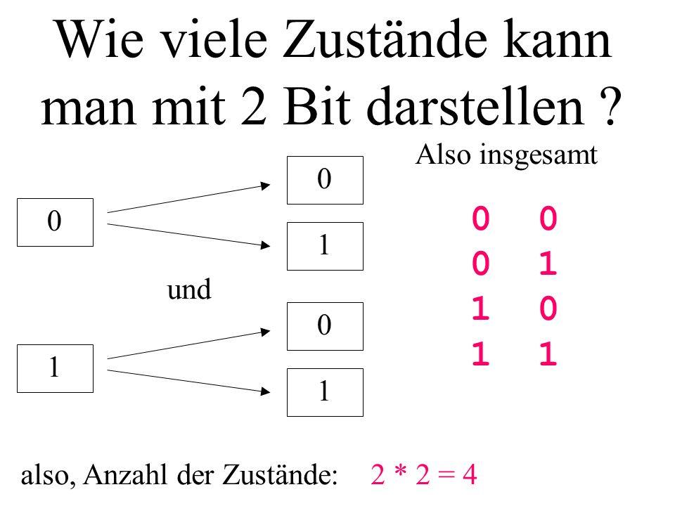 Wie viele Zustände kann man mit 2 Bit darstellen