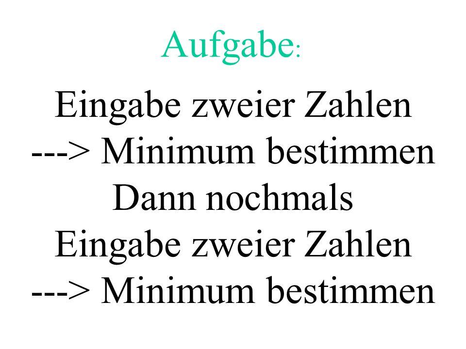 ---> Minimum bestimmen