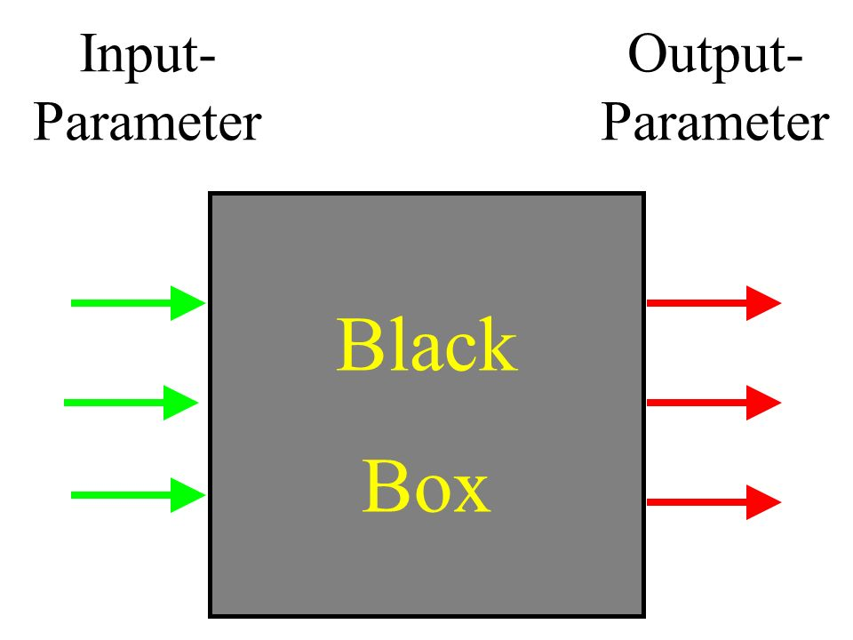 Input-Parameter Output-Parameter Black Box
