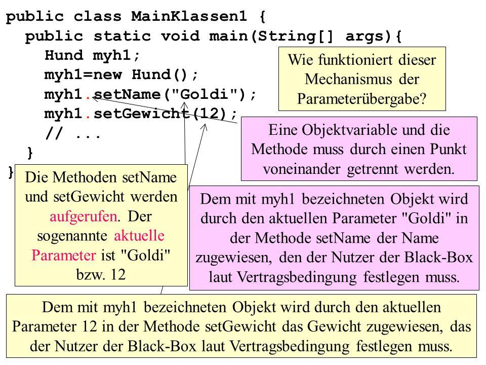 Wie funktioniert dieser Mechanismus der Parameterübergabe