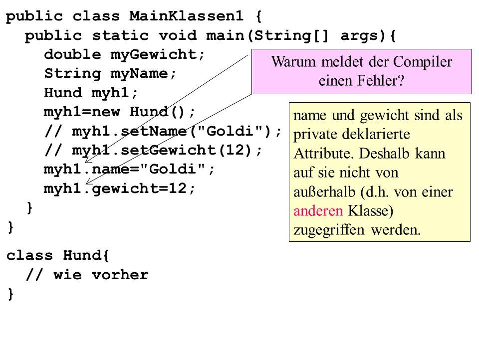 Warum meldet der Compiler einen Fehler
