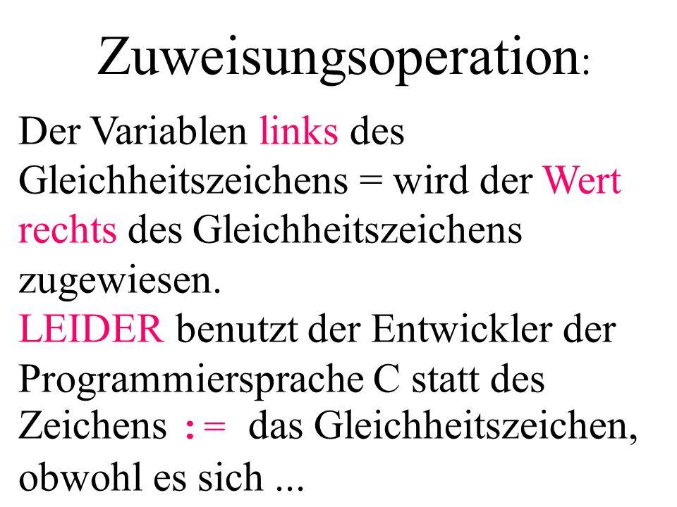 Zuweisungsoperation: