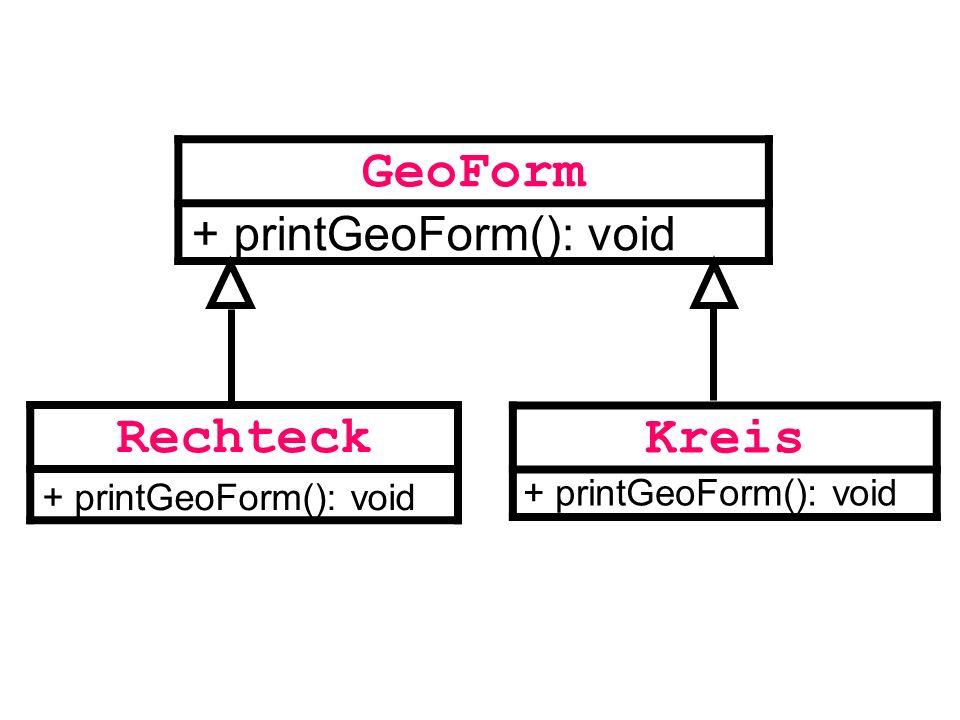 GeoForm Rechteck Kreis