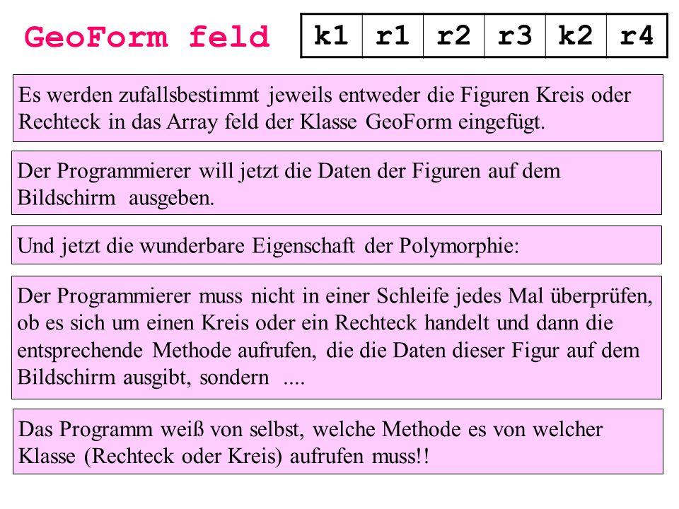 GeoForm feld k1. r1. r2. r3. k2. r4.
