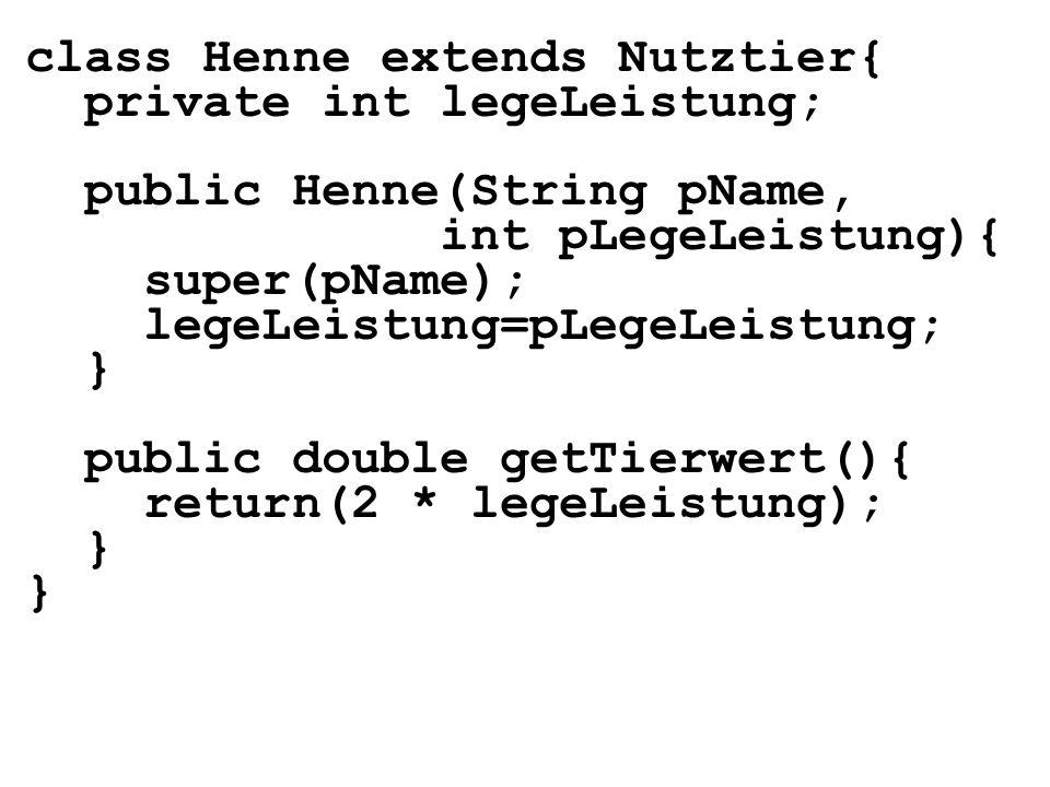 class Henne extends Nutztier{