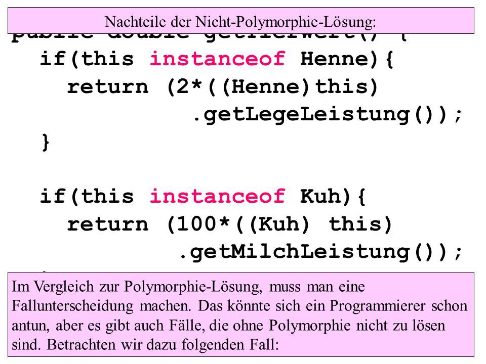 Nachteile der Nicht-Polymorphie-Lösung: