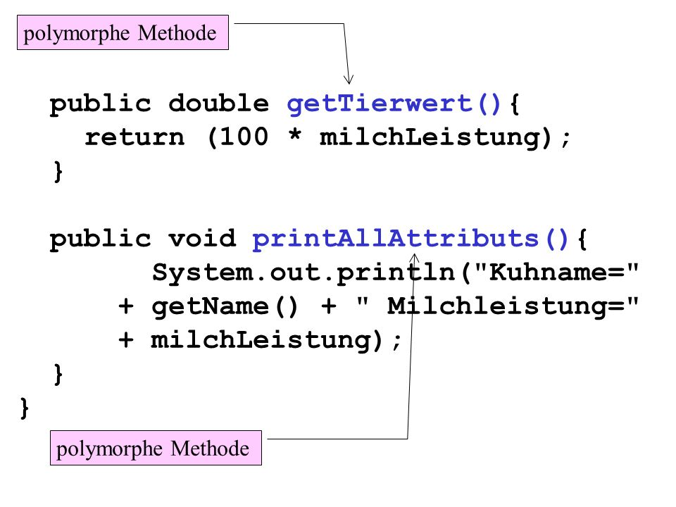 public double getTierwert(){ return (100 * milchLeistung); }