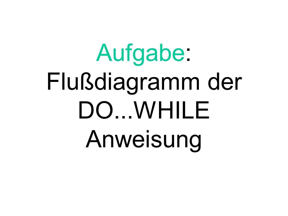 Flußdiagramm der DO...WHILE Anweisung