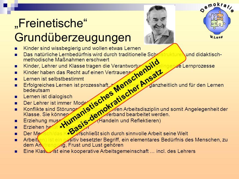 """""""Freinetische Grundüberzeugungen"""