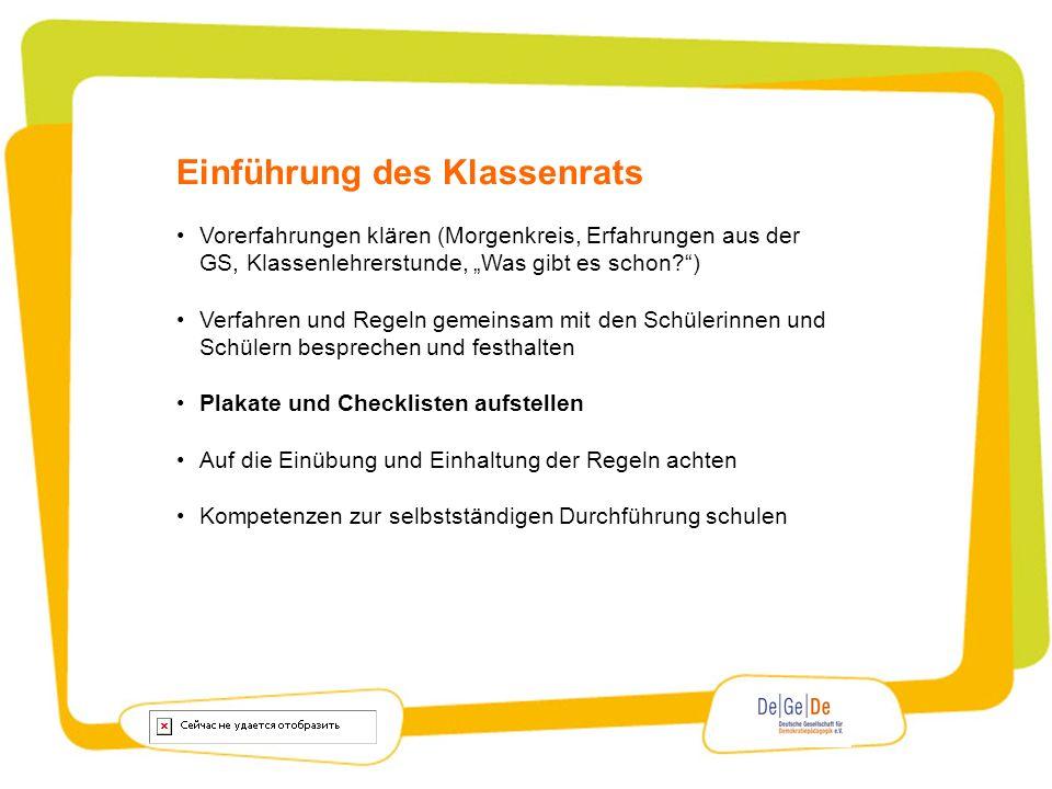 Einführung des Klassenrats