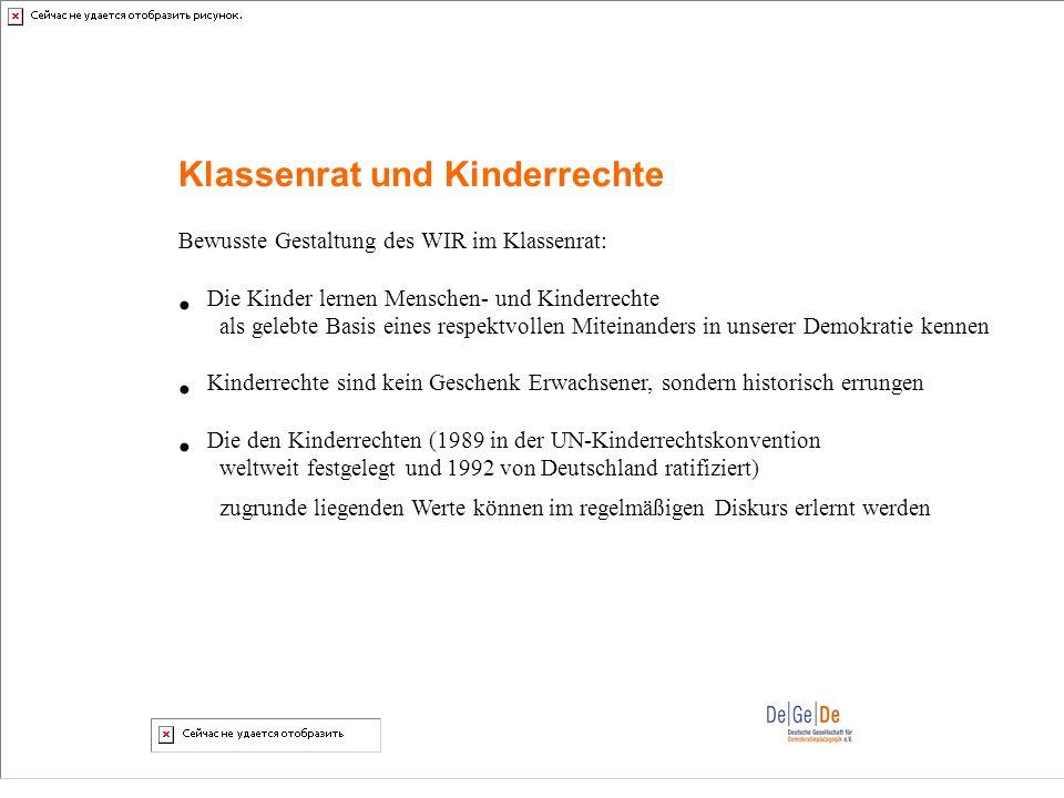 Klassenrat und Kinderrechte