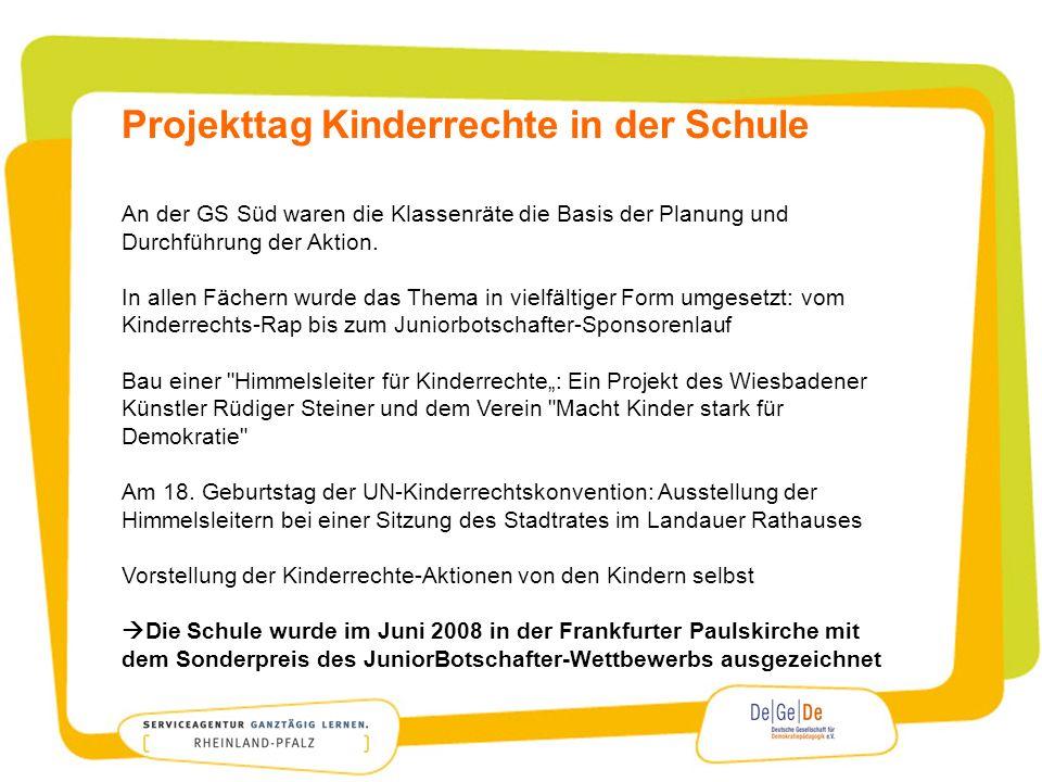 Projekttag Kinderrechte in der Schule
