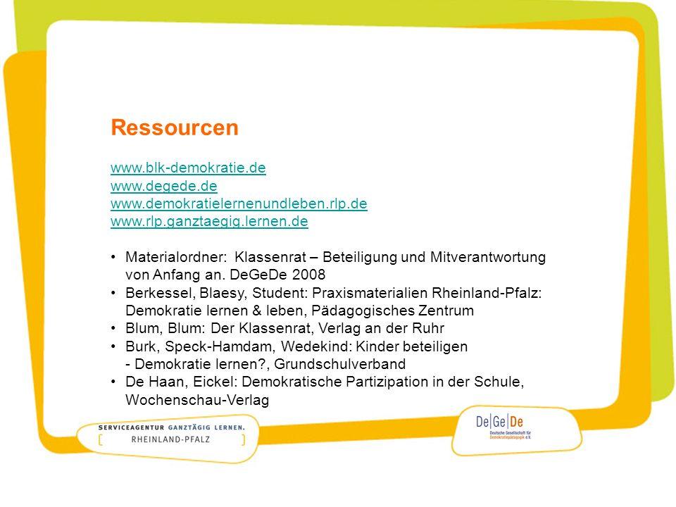 Ressourcen www.blk-demokratie.de www.degede.de