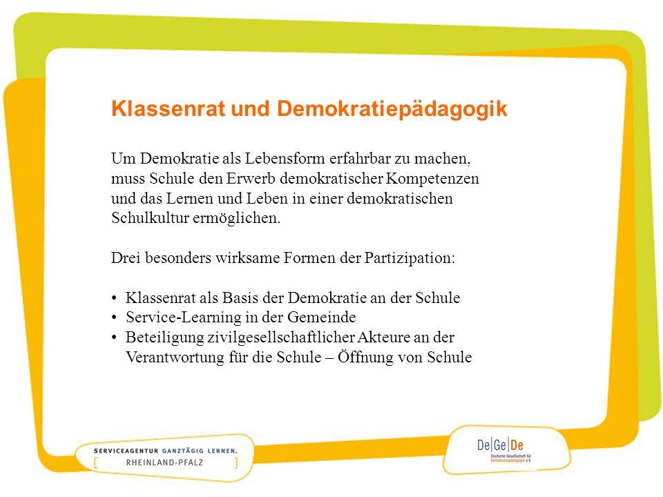Klassenrat und Demokratiepädagogik