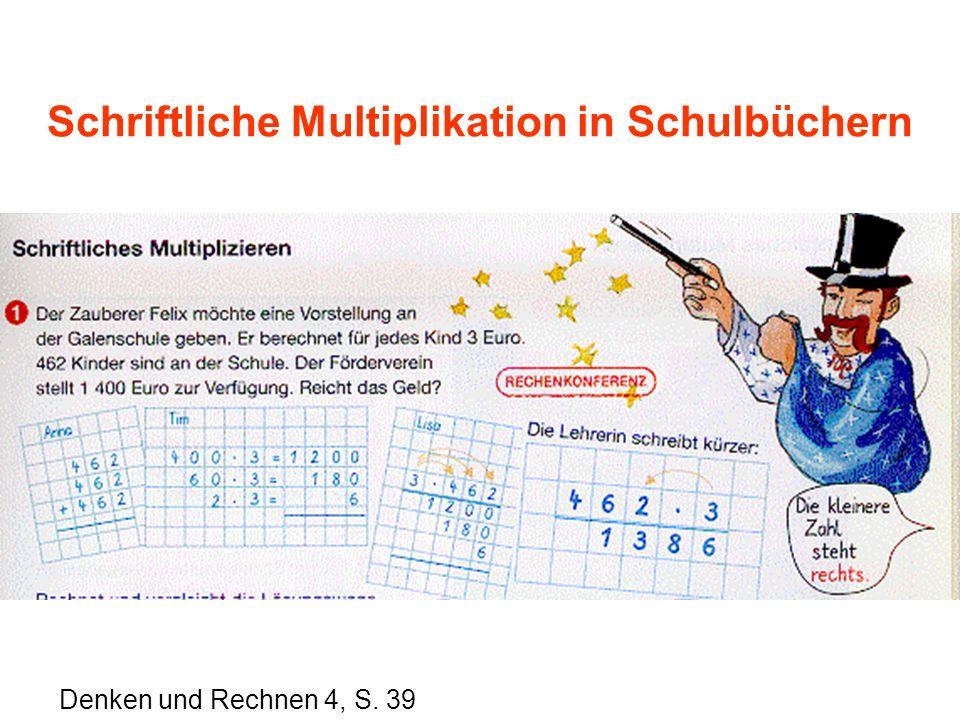 Schriftliche Multiplikation in Schulbüchern