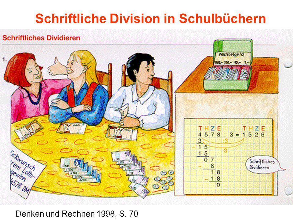 Schriftliche Division in Schulbüchern