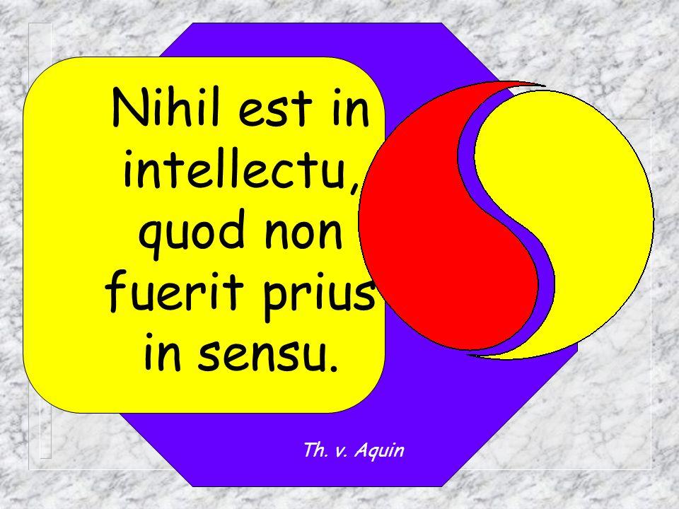 Nihil est in intellectu, quod non fuerit prius in sensu.