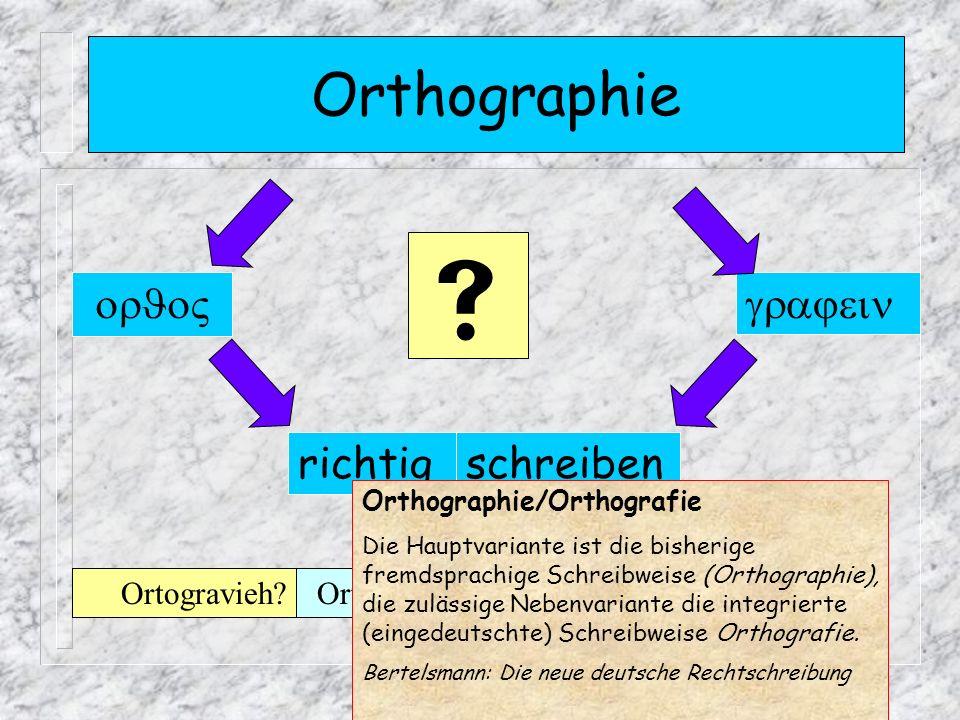  Orthographie   richtig schreiben Ortogravieh