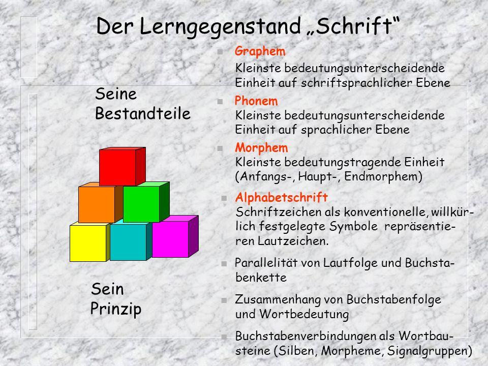 """Der Lerngegenstand """"Schrift"""