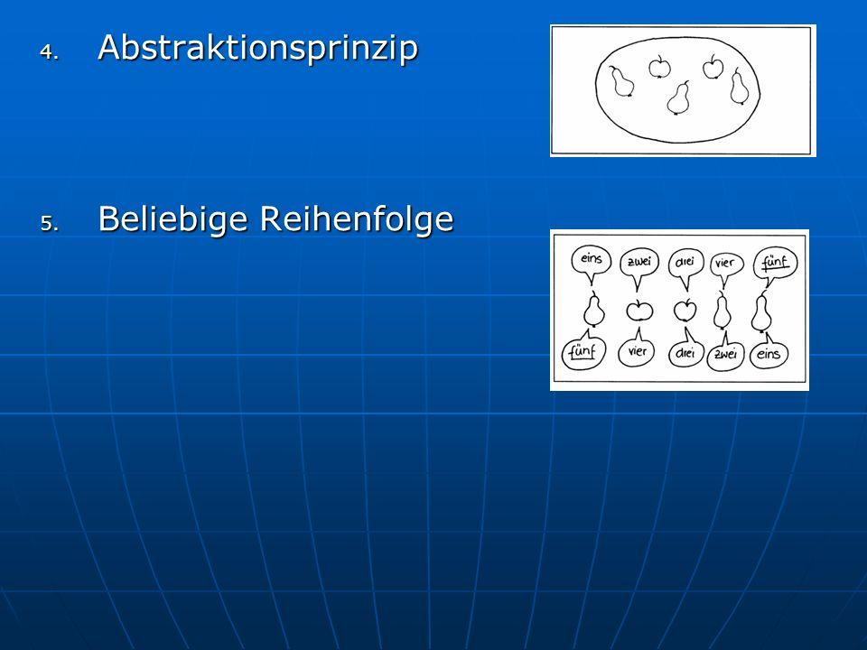Abstraktionsprinzip Beliebige Reihenfolge