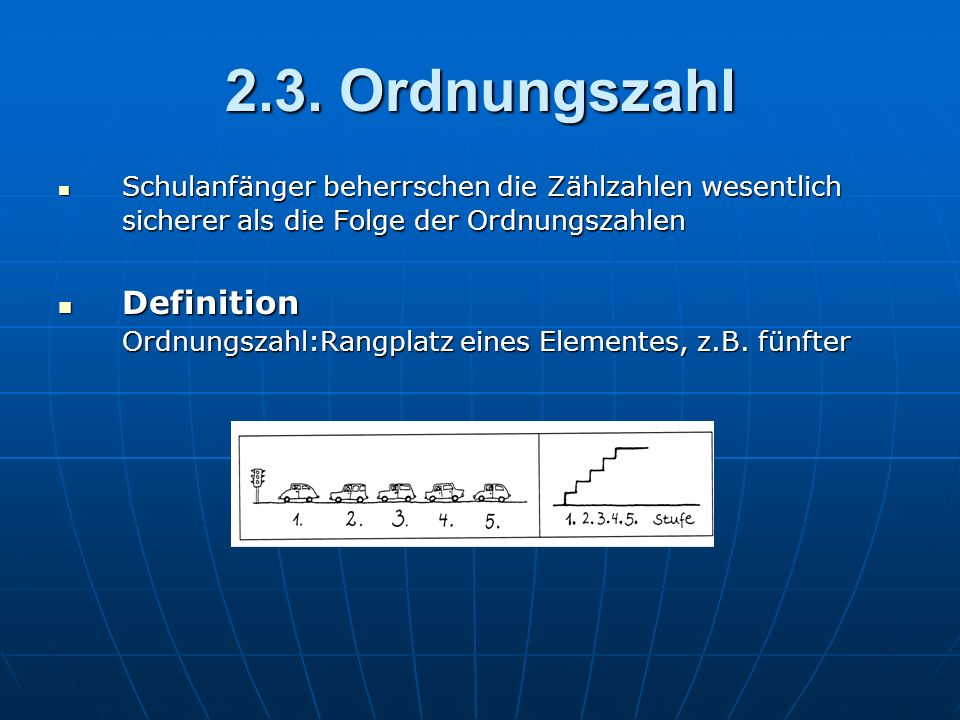 2.3. Ordnungszahl Definition