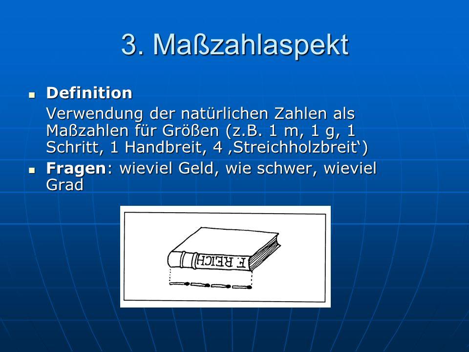 3. Maßzahlaspekt Definition