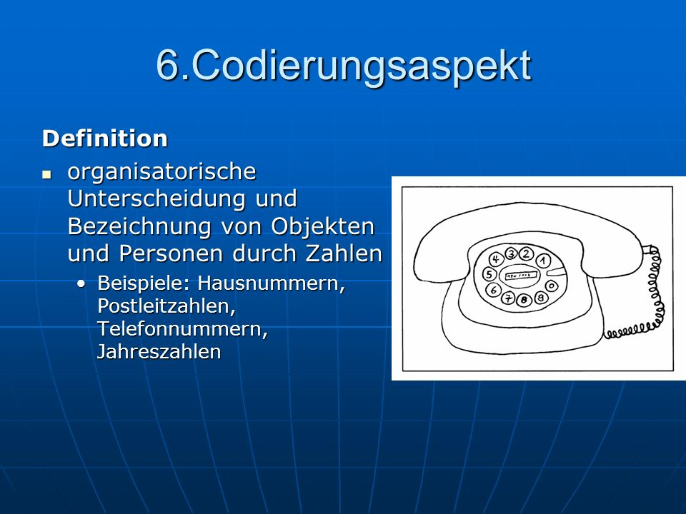 6.Codierungsaspekt Definition