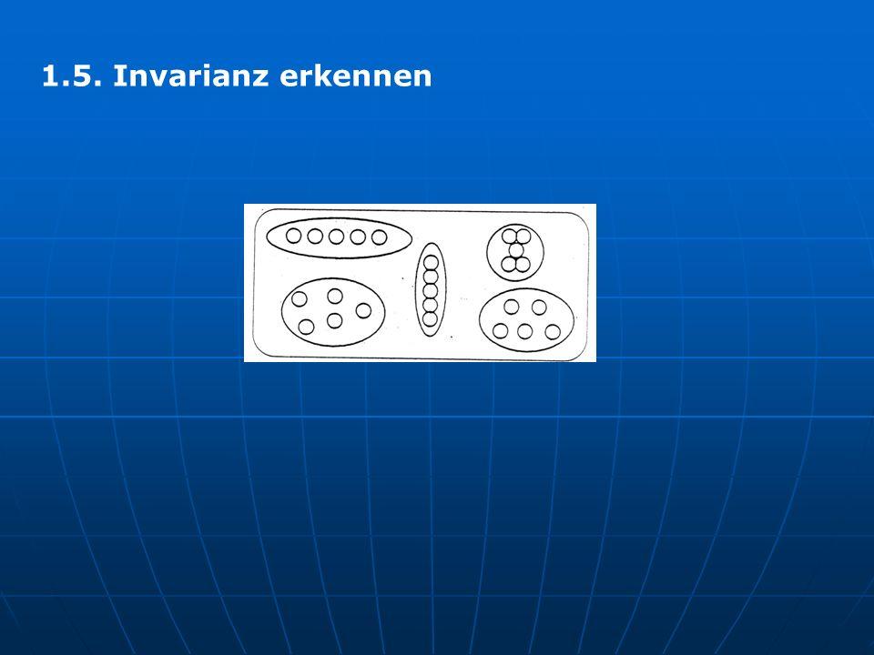 1.5. Invarianz erkennen