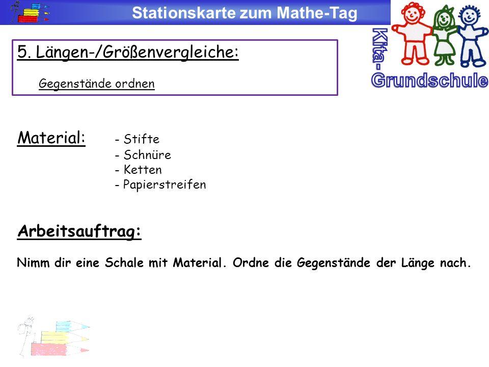 Stationskarte zum Mathe-Tag