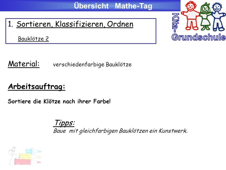 Kita- Grundschule Übersicht Mathe-Tag