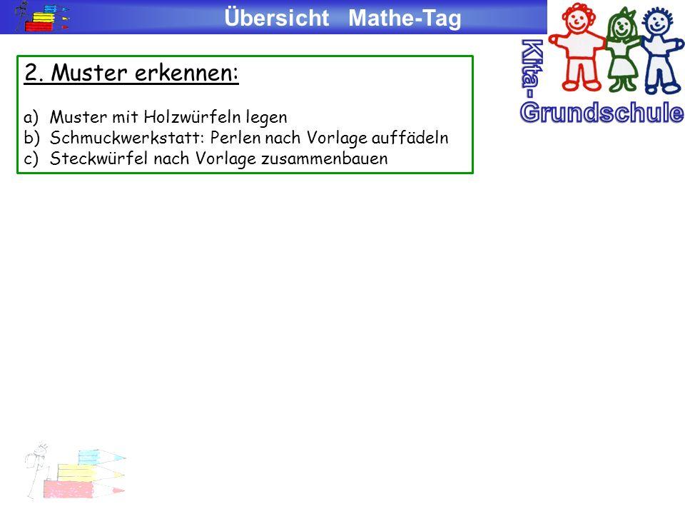 Kita- Grundschule Übersicht Mathe-Tag 2. Muster erkennen: