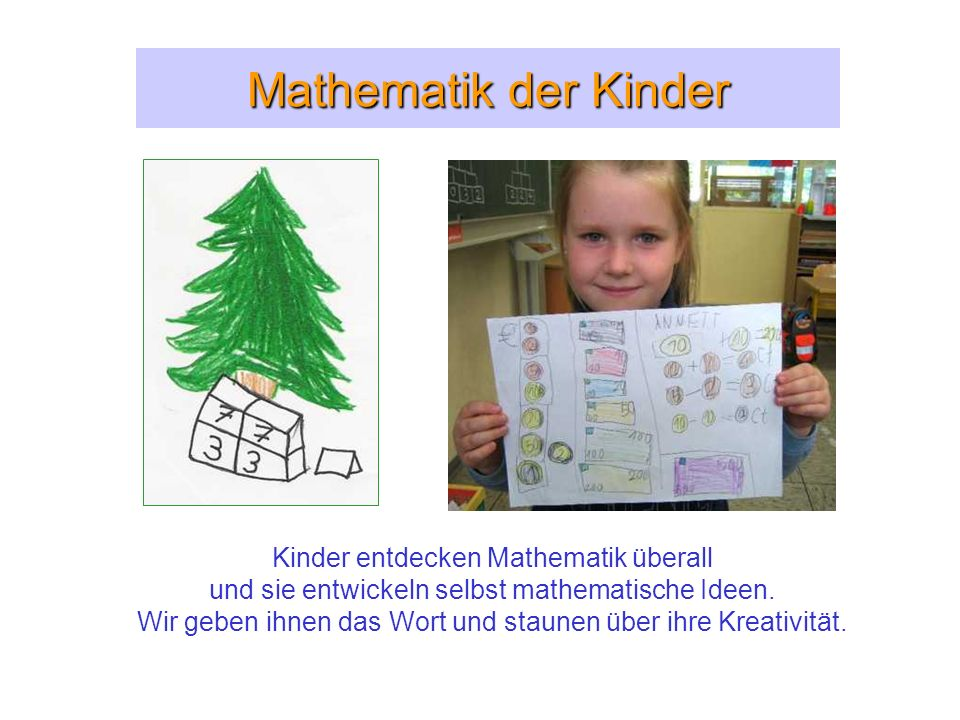 Mathematik der Kinder