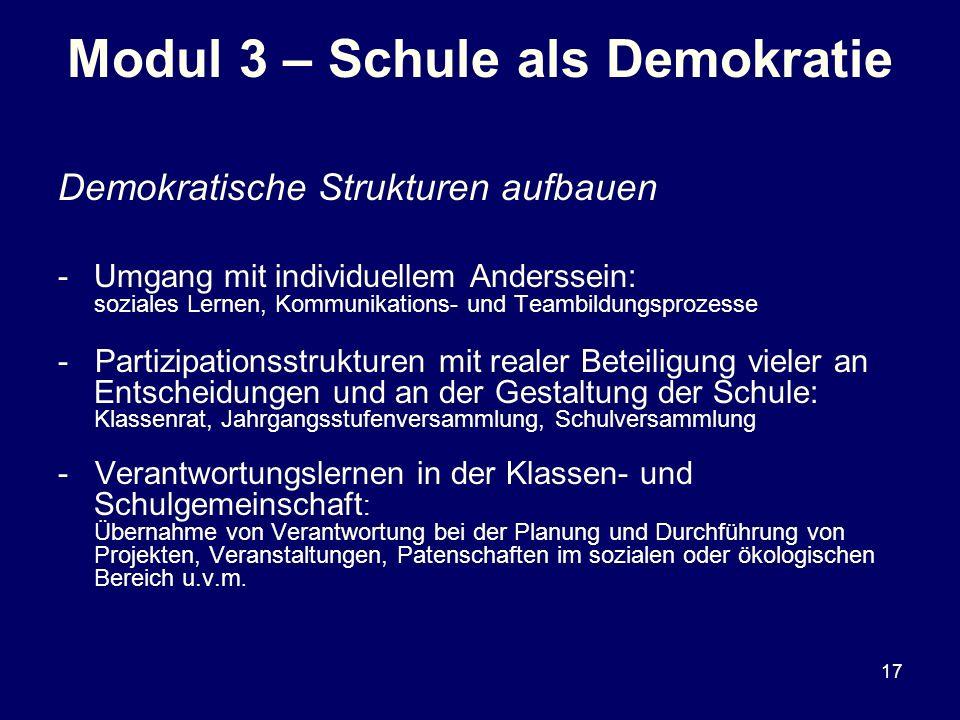 Modul 3 – Schule als Demokratie