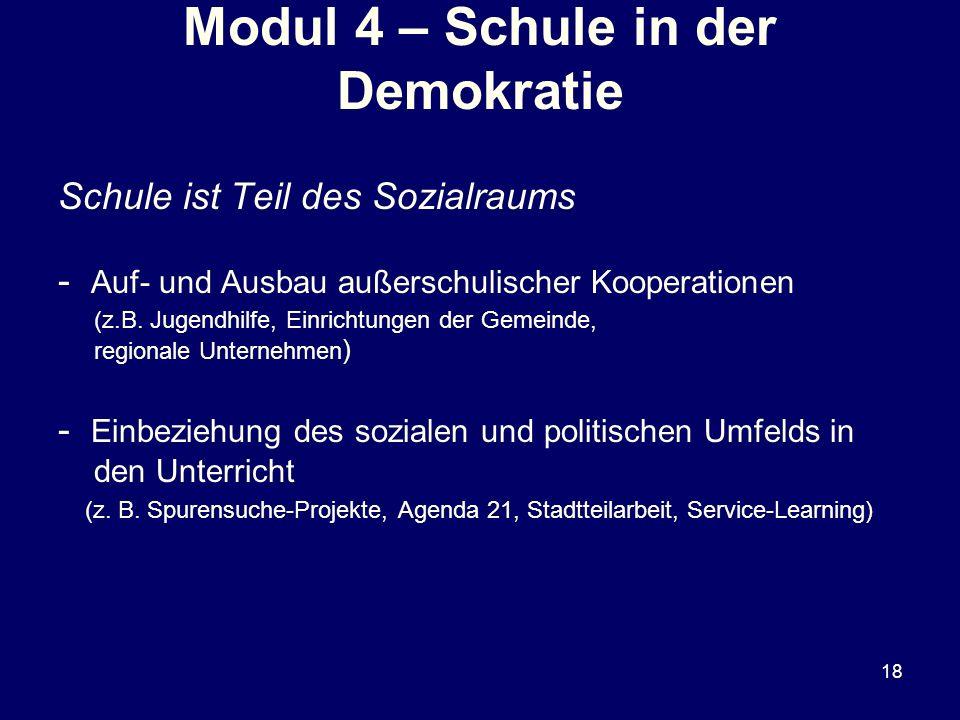 Modul 4 – Schule in der Demokratie