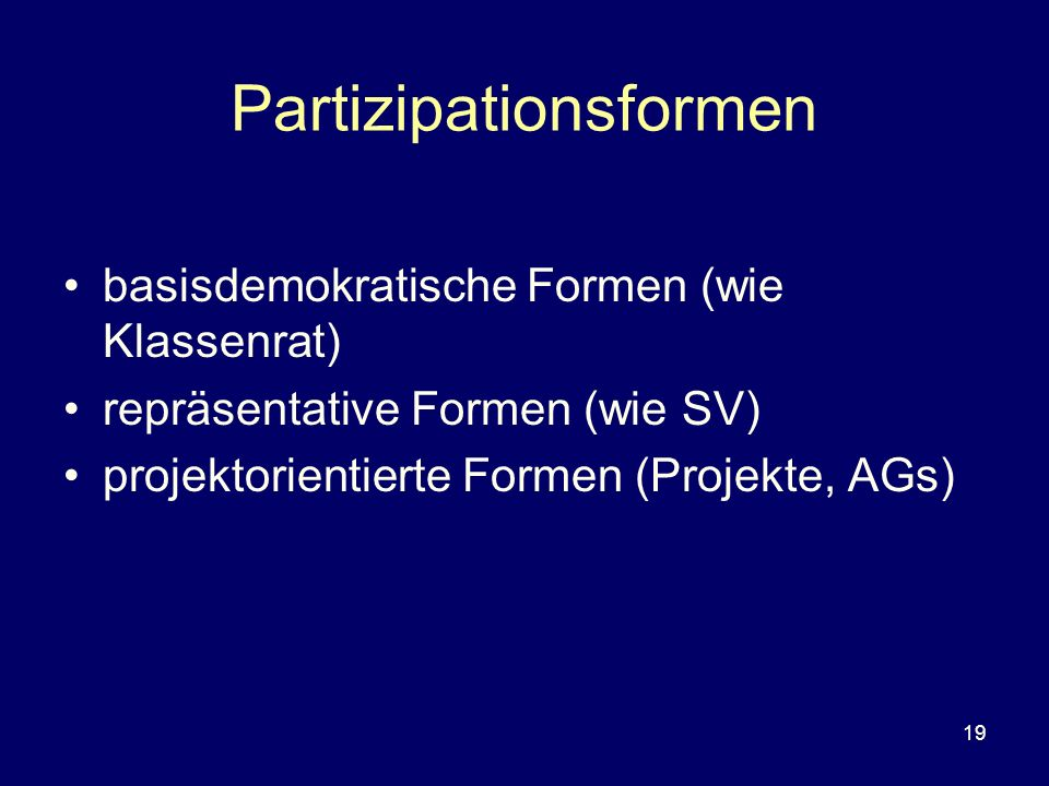 Partizipationsformen