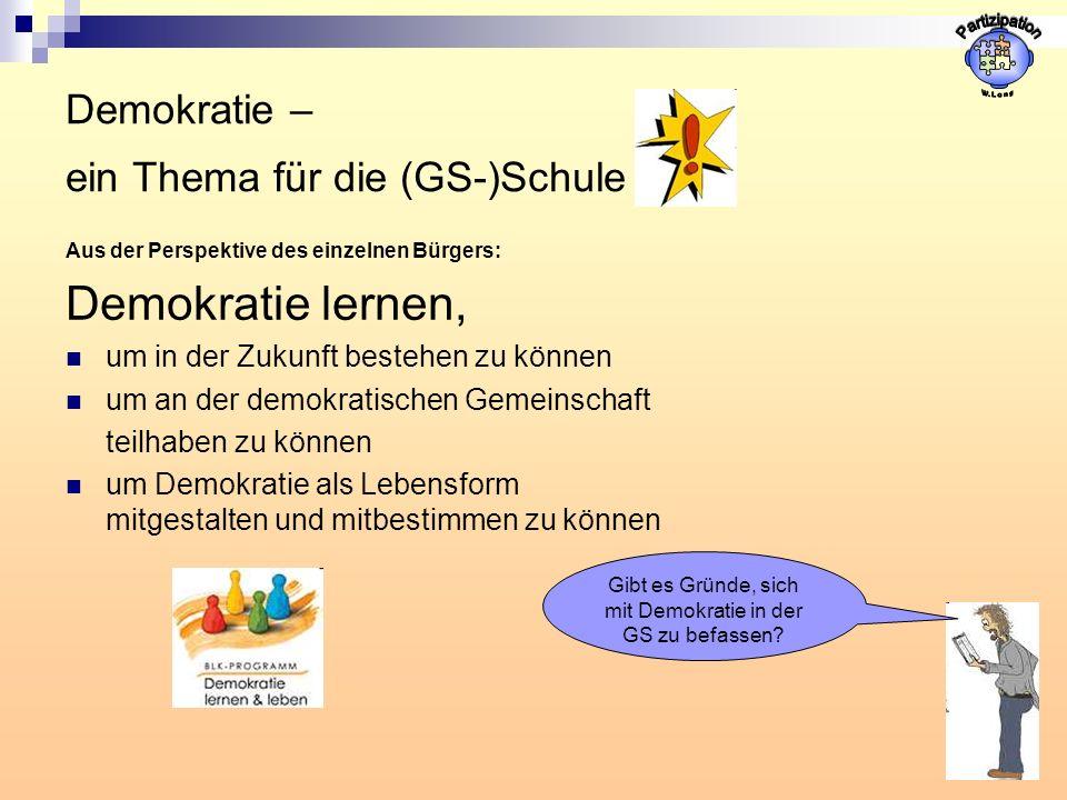 Demokratie – ein Thema für die (GS-)Schule