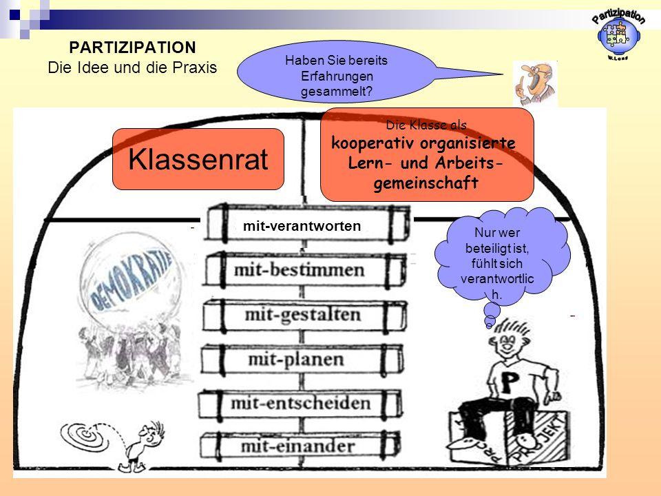 PARTIZIPATION Die Idee und die Praxis
